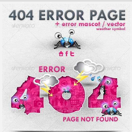 Insect 404 Error Design 404 Error Design Resources to Get More Attention