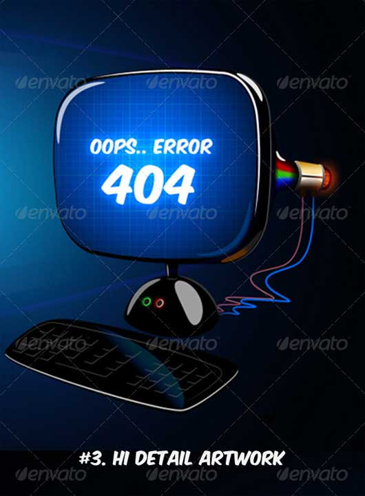 LCD Layout 404 Error Design Resources to Get More Attention