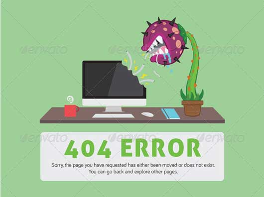 Moved or Removed Page 404 Error Design Resources to Get More Attention