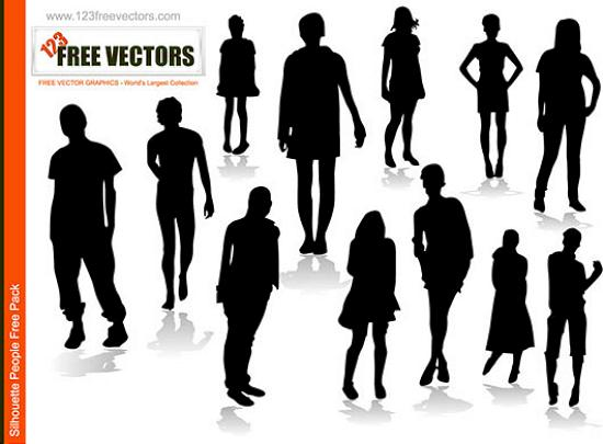 People Silhoutte Vector Stunning Vector Graphics for Designers