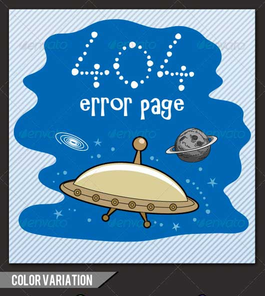 UFO Design 12 404 Error Design Resources to Get More Attention