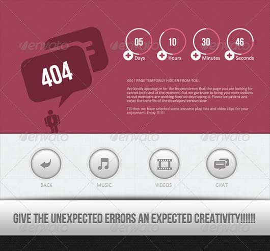User Interface Design 404 Error Design Resources to Get More Attention