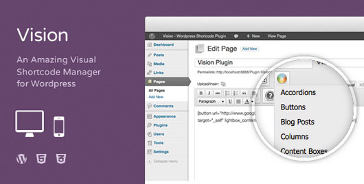 Vision WordPress Shortcodes Plugin1 Top 40 Premium Plugins of WordPress