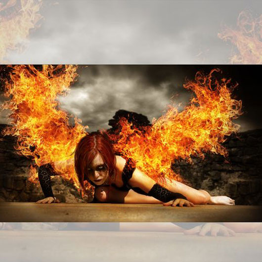 "Create an Intense ""Wings of Fire"" Photo Manipulation"