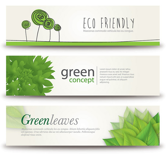Eco Banners Vector Graphic