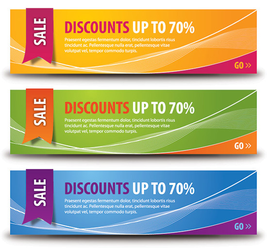 Discount Banners Vector Graphic