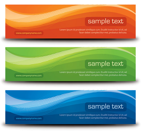 Stylish Banners Vector Graphic