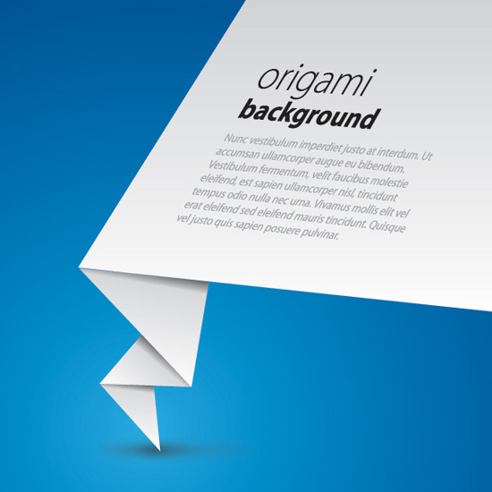 Origami Background - Vector Graphic by DryIcons