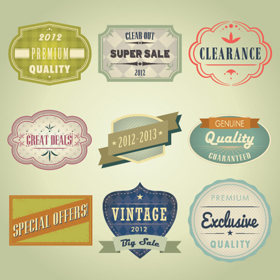 Vintage Badges Vector Graphic