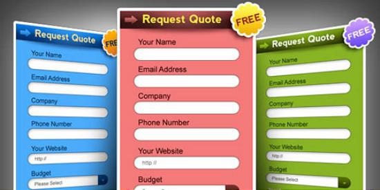 Request a quote form PSD in 3 colors 18 Excellent PSD Design Files for Designers
