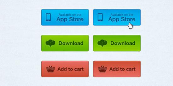 Simple Buttons PSD 79 Excellent PSD Design Files for Designers
