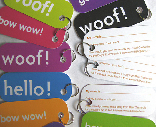 Bibliopet's Dog Tag Business Cards