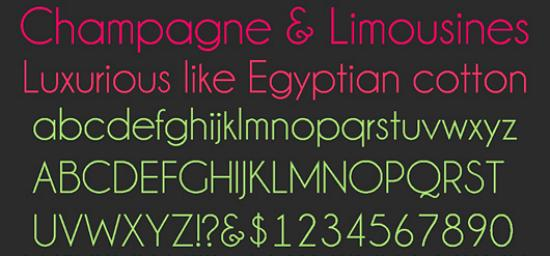 champagne and limousines Free Fonts for Developer and Designers