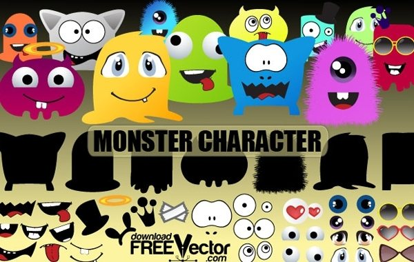 Free vector constructor for creation kit Monsters