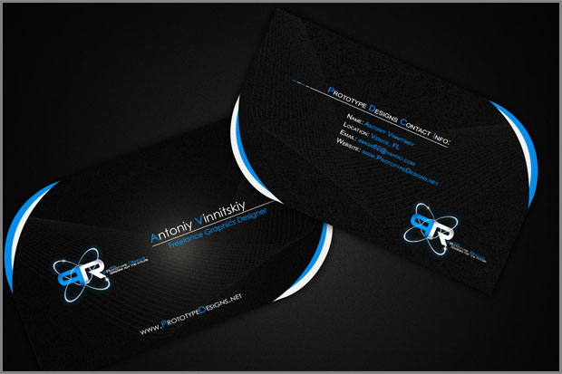 Corporate Identity Design - Black Business Card