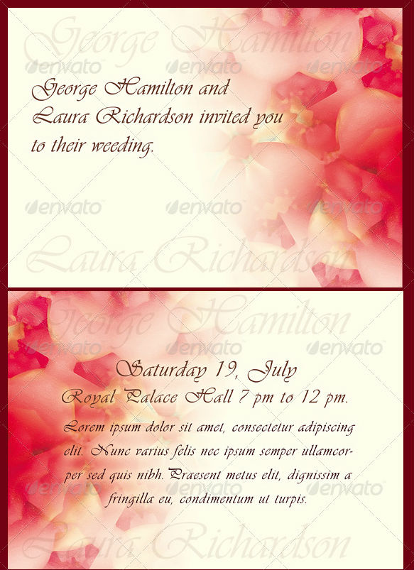 Wedding /Engagement Invitation Template  Engagement Card Template
