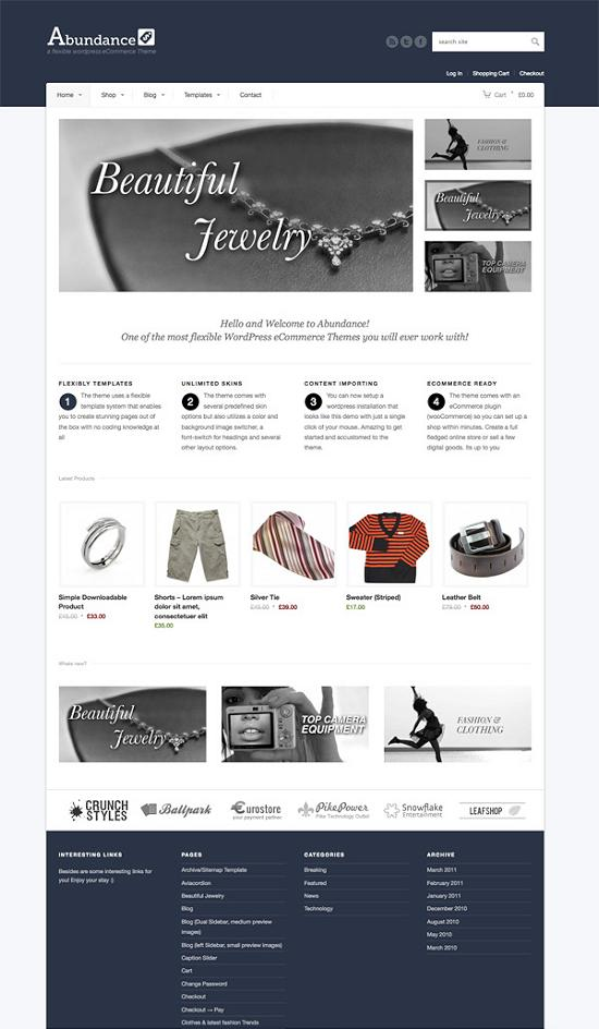 abundance A Perfect Solution for Online shop using WordPress Themes