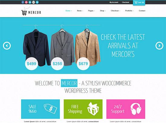 mercor ecommerce themes A Perfect Solution for Online shop using WordPress Themes