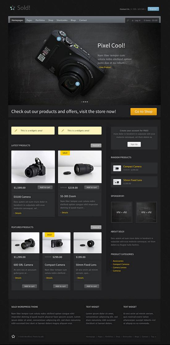 sold woocommerce theme A Perfect Solution for Online shop using WordPress Themes