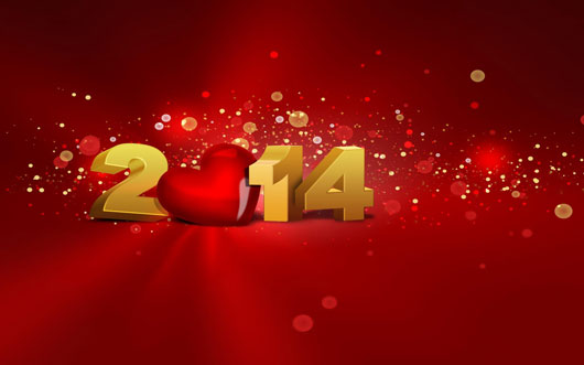 Beautiful New Year Wishes With Red Heart