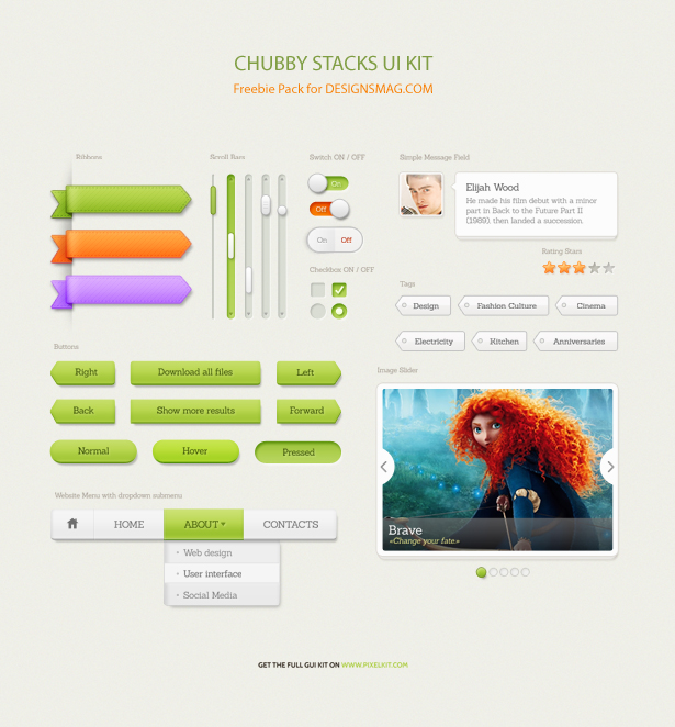 Chubby Stacks User Interface Design Kit