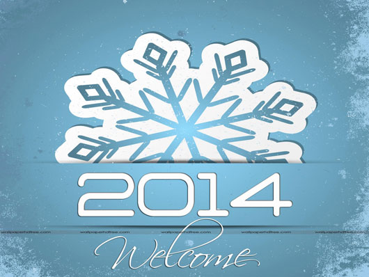 Creative Welcome For Newyear 2014 Wishes