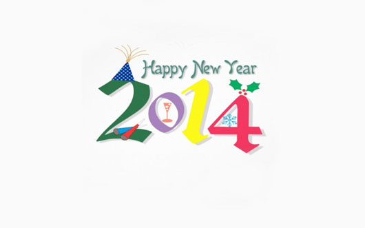 Funny Fonts for New Year 2014 Wishes