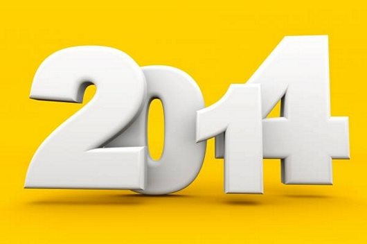 Lovely 3D Wallpaper of New Year 2014