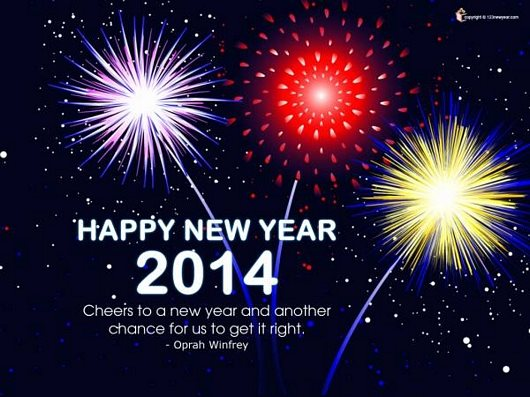 New Year 2014 Fireworks Wallpaper