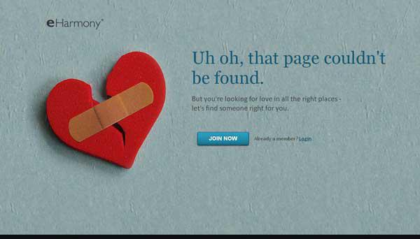 Harmony 404 Error Page Design