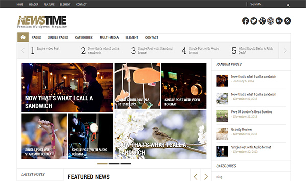 NewsTime 50+ WordPress magazine themes for news sites