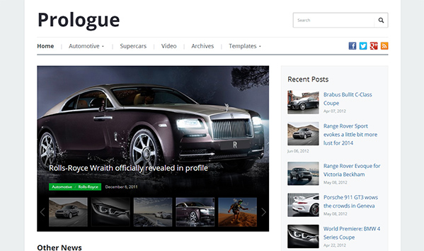 Prologue 50+ WordPress magazine themes for news sites