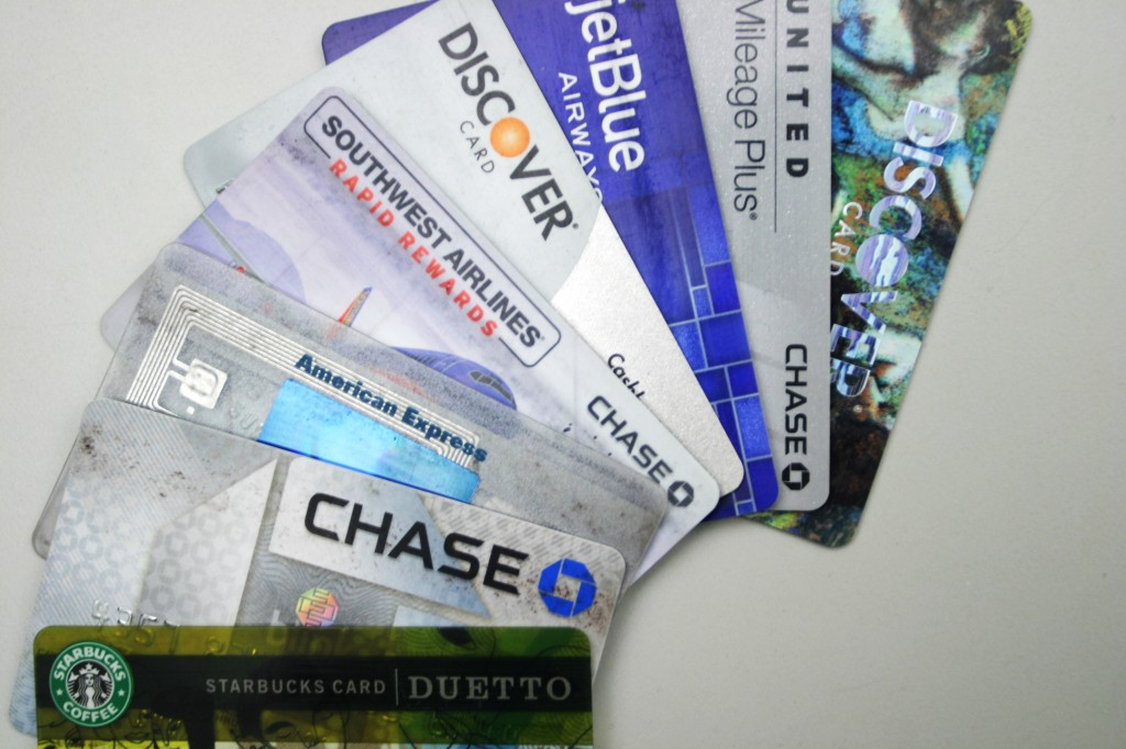 "Credit cards are the focus of a risky new game dubbed ""credit-cardroulette."""