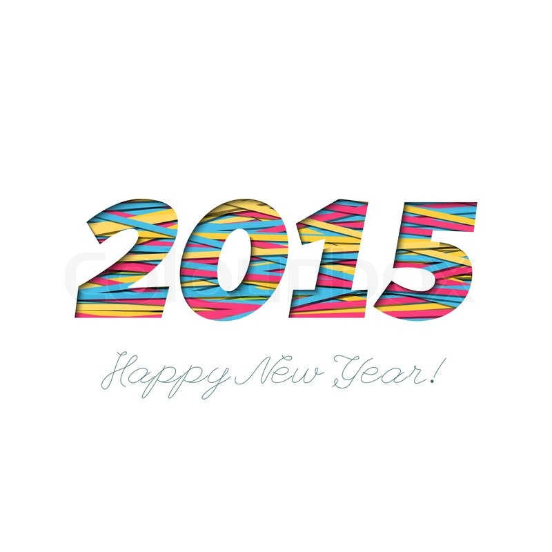 11416994 creative greeting card design for new year 2015
