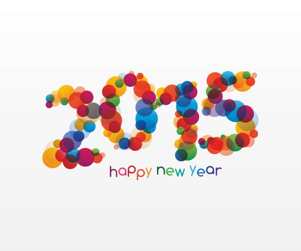 Happy New Year 2015 Vector Graphic