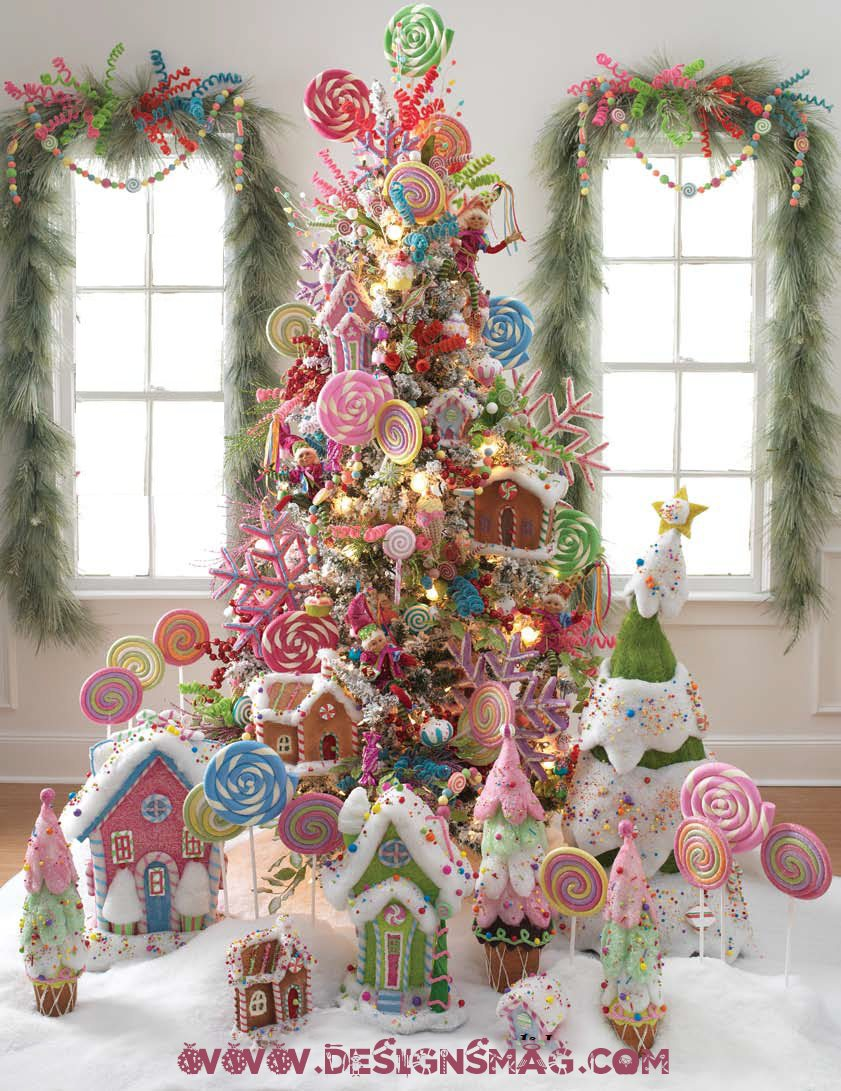candy christmas tree designsmag - Christmas Tree Designs
