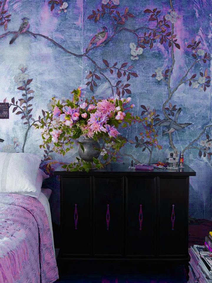 3d diy wall painting design ideas to decorate home - Flower wall designs for a bedroom ...
