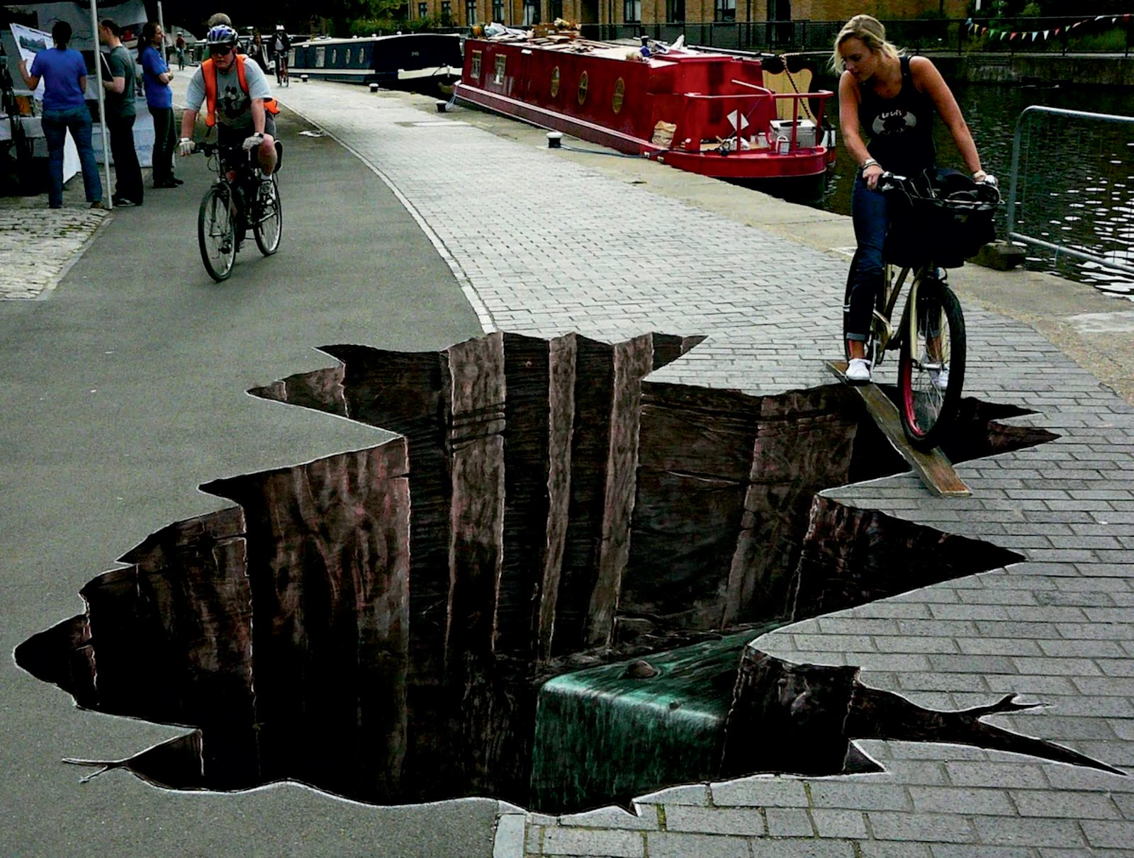 breathtaking 3d street art 3d chalk art. Black Bedroom Furniture Sets. Home Design Ideas