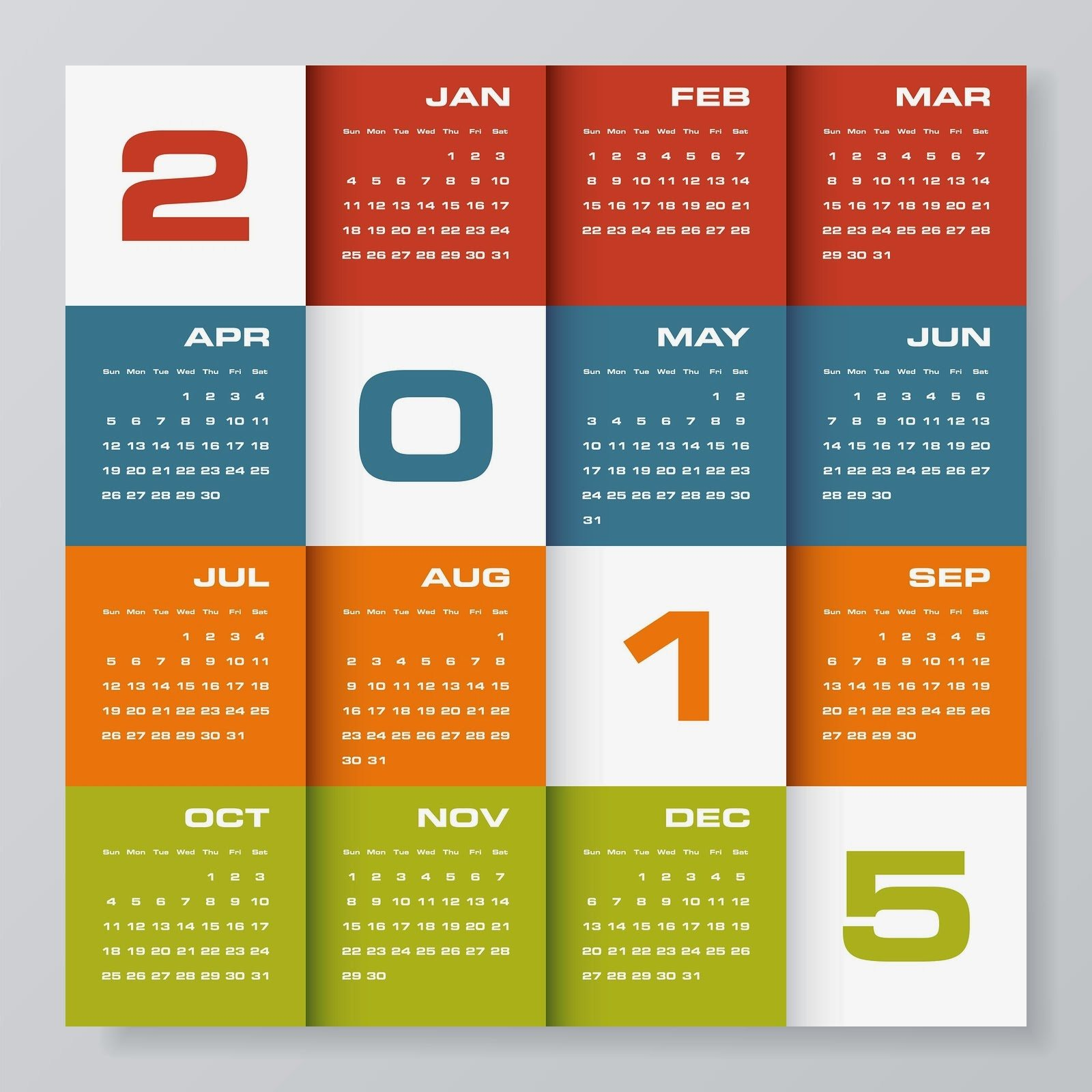 Yearly Calendar Design : Amazing calendar for year designs