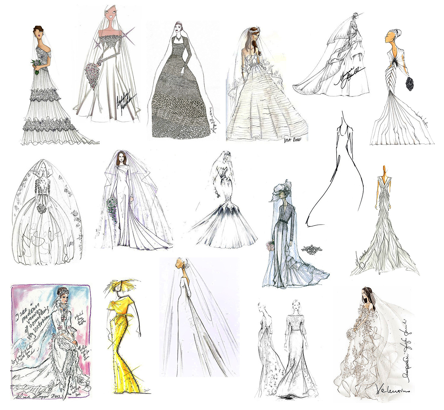 Indian Fashion Designer Sketches