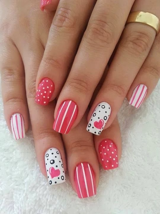 10 amazing valentines nail designs