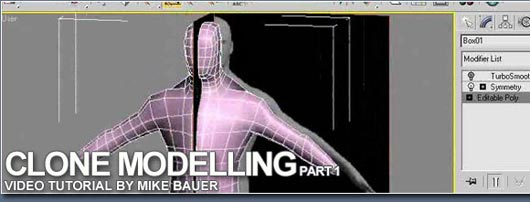 3D Max Clone Modelling - Video Tutorial