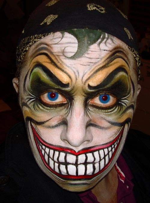 Halloween Face Painting Ideas for men women and kids - Best Halloween Face Painting Ideas