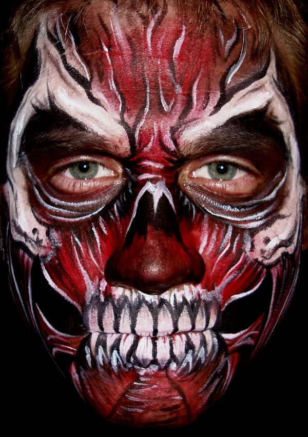 Devil Face Painting Designs For Adults