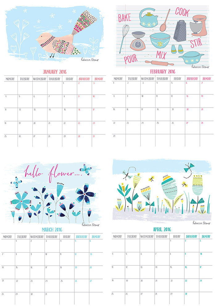 New Year Calendar Designs : Free new year calendar designs templates designsmag