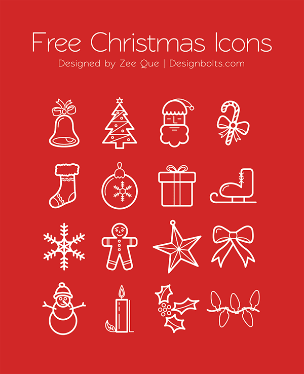 Merry Christmas Icons Set Free-Christmas-Icons-EPS-Ai