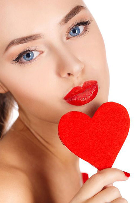 Valentines day face makeup and hair styling-02