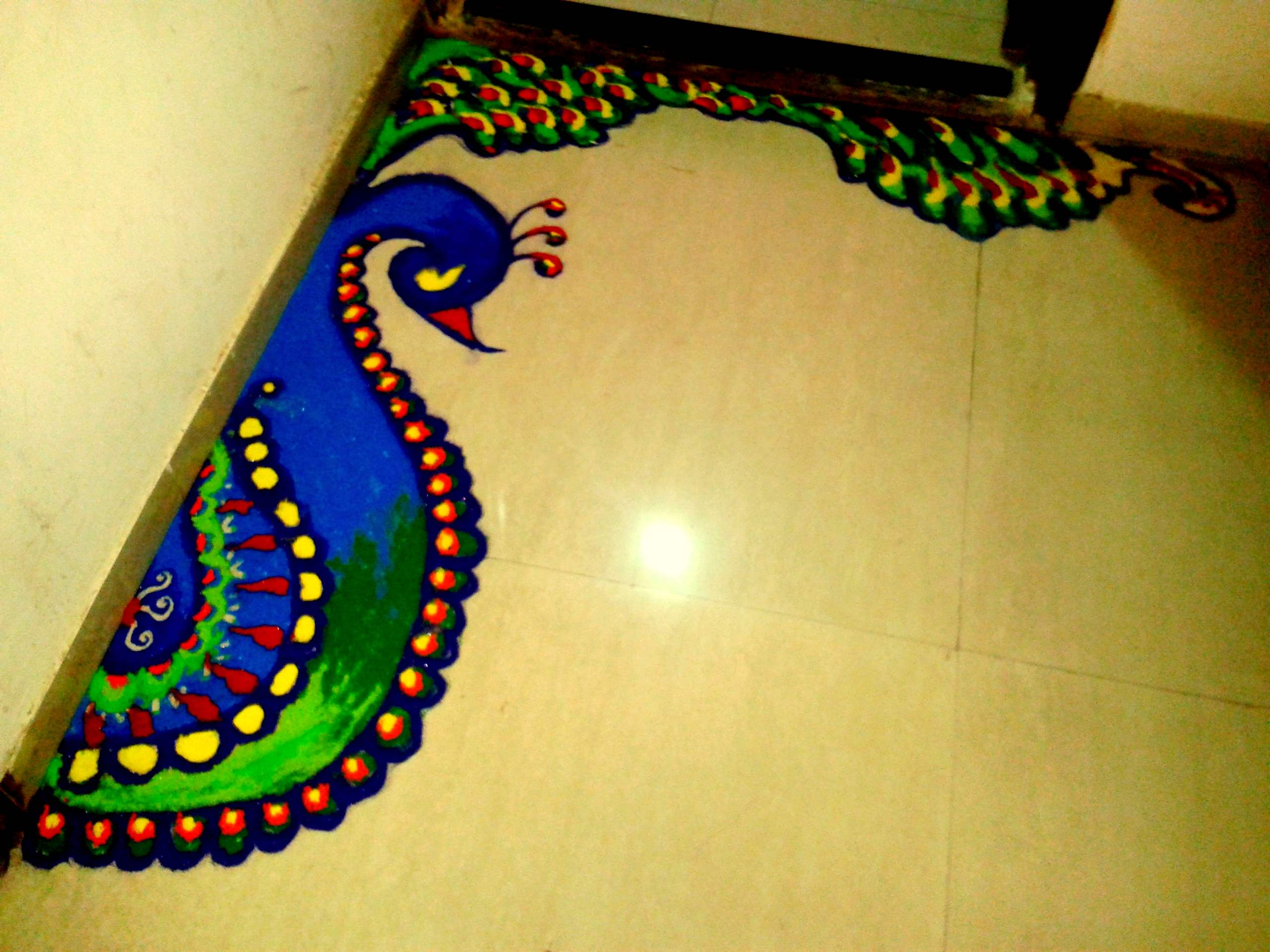 Pea Dewali Floor Decoration Ideas 009