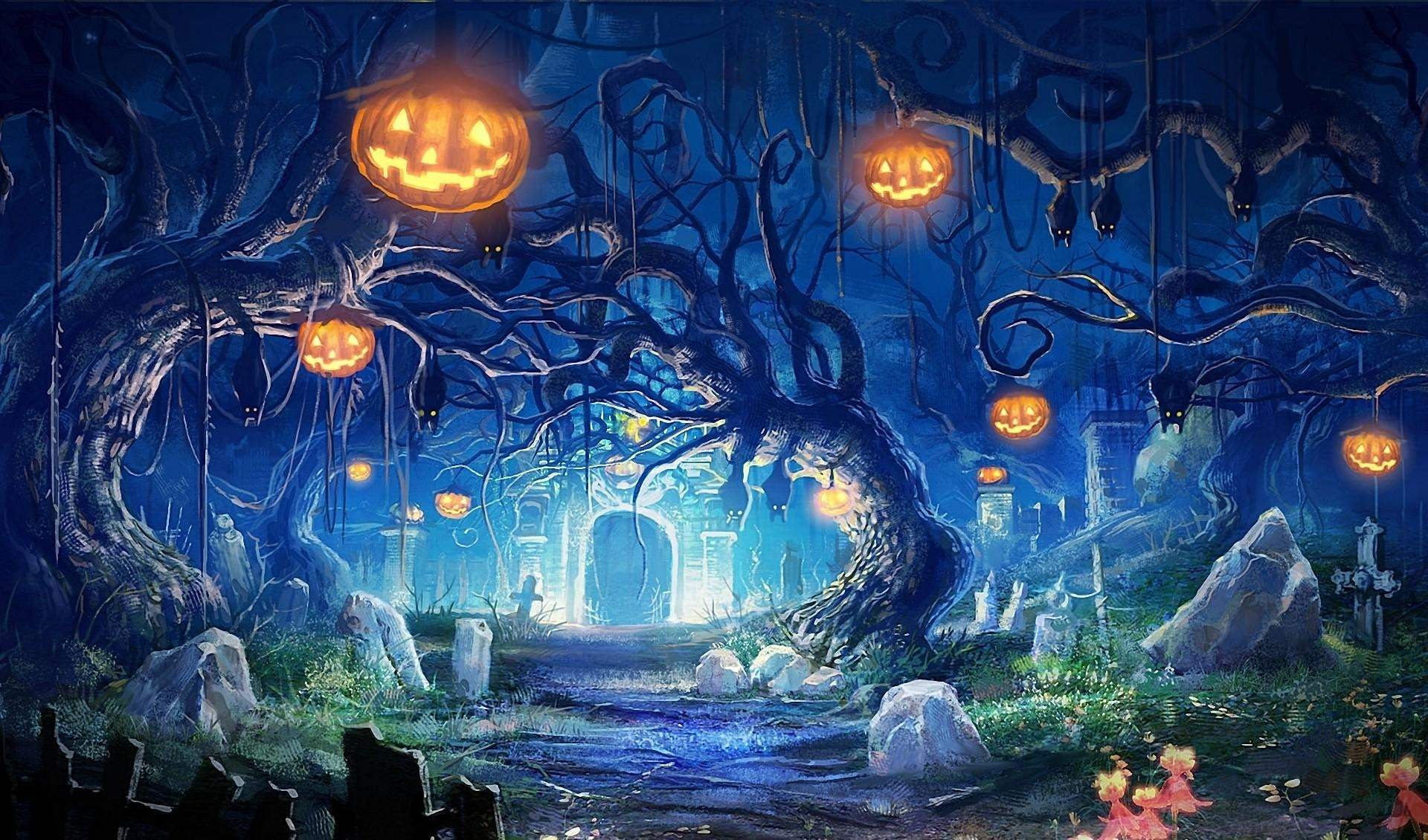 Halloween Design Wallpaper : Halloween wallpapers and pictures time to decorate your room