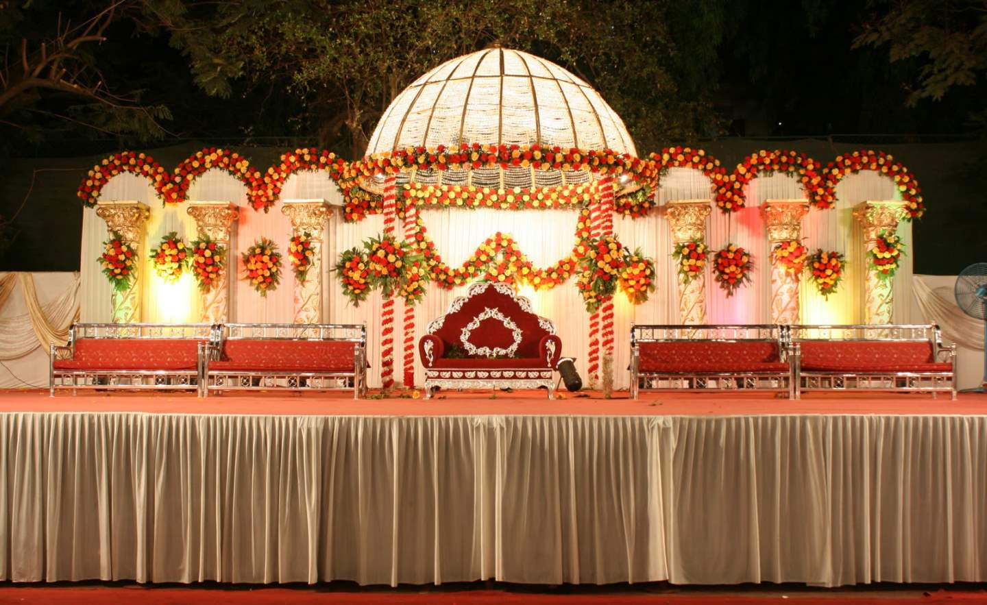 Indian wedding decoration ideas important 5 factor to for Background decoration for indian wedding
